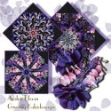 Isabelle Ornate Plum Kaleidoscope Quilt Block Kit