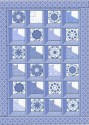 Dutchess Medallions Blue Cats in the Window with Kaleidoscopes Quilt Top K