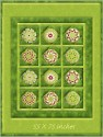 Kringle Krossing Window Pane Lap  Size Kaleidoscope Quilt
