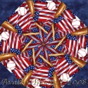 All American Baseball Kaleidoscope Quilt Block Kit