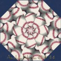Baseballs Kaleidoscope Quilt Block Kit