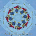 Busy Town Kaleidoscope Quilt Block Kit