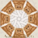 Cat's Meow Cream Kaleidoscope Quilt Block Kit