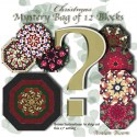Christmas Mystery Bag of 12 Kaleidoscope Quilt blocks