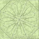 Double Fleurette 8 Inch Quilting Template