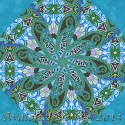 Fabrique-istan Turquoise by Paula Nadelstern Kaleidoscope Quilt