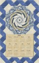 Florentine 4 Blue Calendar Wall Hanging  Kit