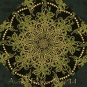 Holiday Flourish 7 Damask Kaleidoscope Quilt Block Kit