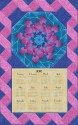 Kaffe Fassett Lake Blossom Blue Calendar Wall Hanging Kit