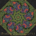 Kaffe Fassett Paisley Jungle Moss Kaleidoscope Quilt Block Kit