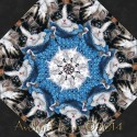 Kitty Cat Kaleidoscope Quilt Block Kit