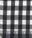Large Black and White Check Flannel Fabric