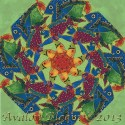 Laurel Burch Sea Spirits Kaleidoscope Quilt block Kit