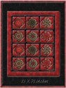 Let it Glow Window Pane Lap  Size Kaleidoscope Quilt