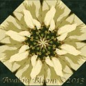 Martha Negley Poinsettia  Kaleidoscope Quilt Block Kit