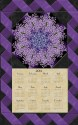 Midnight Lilacs Calendar Wall Hanging Kit