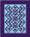 Mariposa Stained Glass Windows Kaleidoscopes Quilt Top Kit