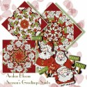 Season\'s Greetings Santa Kaleidoscope Quilt Block Kit
