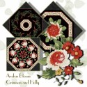 Crimson and Holly Kaleidoscope Quilt Block Kit