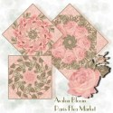 Paris Flea Market Flower Garden Double Size Quilt Top Kit