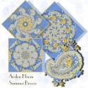 Summer Breeze Paisley Kaleidoscope Quilt Block Kit