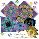 Laurel Burch Dogs and Doggies Kaleidoscope Quilt block Kit