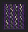 Primavera Iris Ribbons and Fans Kaleidoscope Queen Quilt Top Kit