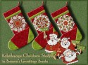 Season's Greetings Santa Kaleidoscope Christmas Stocking Kit