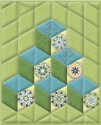 Tumbling Blocks Kaleidoscope Quilt Pattern