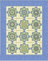 Twinkling Stars in Buttercream Pansy Double Size Quilt Top Kit