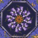 Violets Border by Timeless Treasures Kaleidoscope Quilt Block Ki