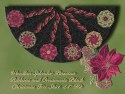 Poinsettia Splendor Ribbons and Ornaments Christmas Tree Skirt K