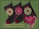 Woodland Splendor Poinsettia Kaleidoscope Christmas Stocking Kit