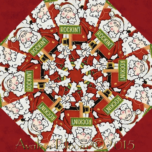 Season's Greetings Santa Kaleidoscope Quilt Block Kit