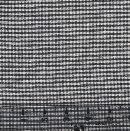 Small Black and White Check Flannel Fabric