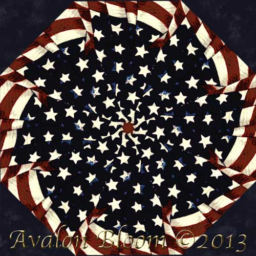 Stars and Stripes Kaleidoscope Quilt Block Kit