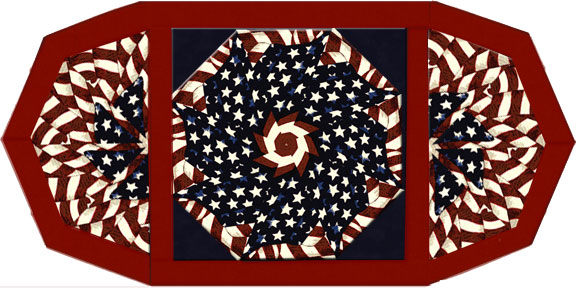 Stars and Stripes Kaleidoscope Fan Place Mat Kit