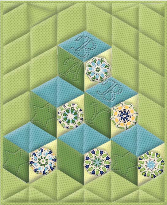 Baby And Children Tumbling Blocks Kaleidoscope Quilt Pattern
