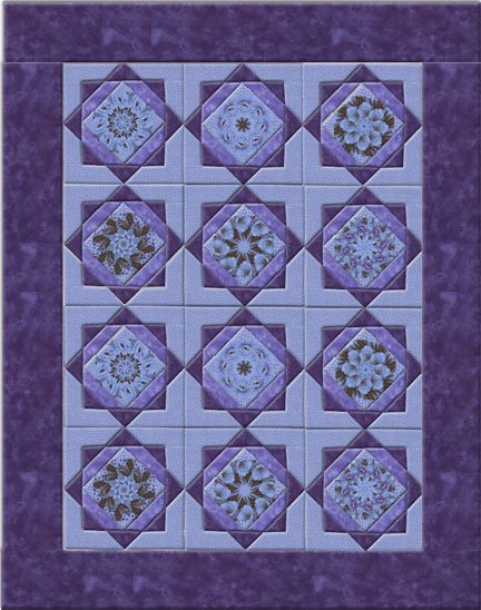 Twinkling Star Double Kaleidoscopes Quilt  Pattern