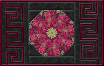 Woodland Splendor Poinsettia Greek Key Place Mat Kit
