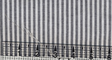 Woven Chambray Black and White Stripe Fabric